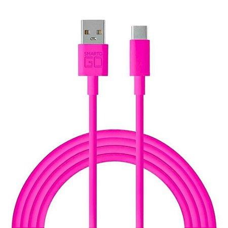 CABO USB TIPO C BLINDADO WI399 1.2M ROSA - MULTILASER