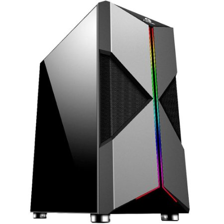 GABINETE GAMER HOLT PT RGB RAINBOW - FORTREK
