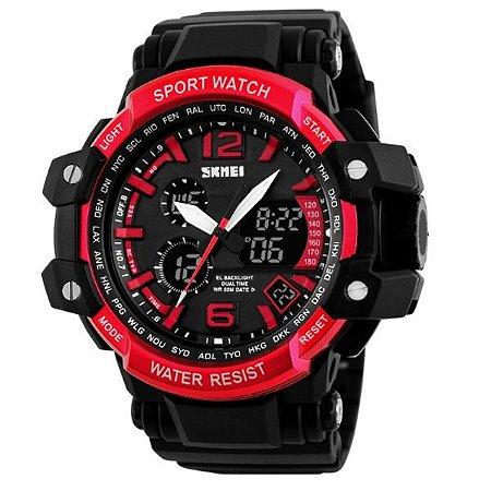 4b520d0edb5 Relógio Masculino Skmei Anadigi 1137 PT-VM - Shecom