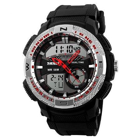 01a4aacc0cb Relógio Masculino Skmei Anadigi 1109 PT-PR - Shecom