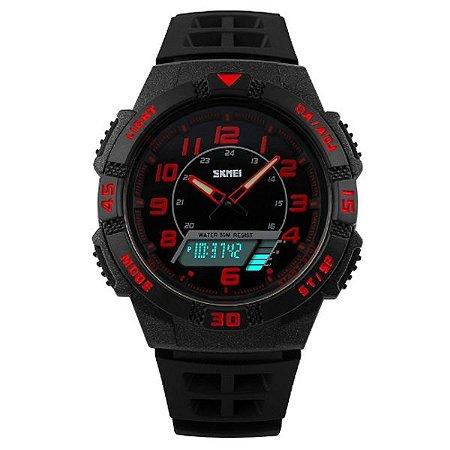 49fa1ff35ed Relógio Masculino Skmei Anadigi 1065 PT-VM - Shecom
