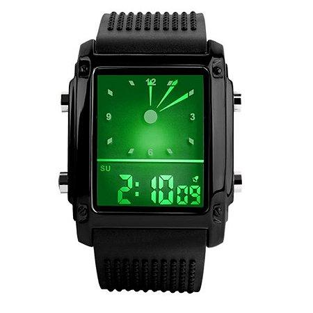 184aca1c7a6 Relógio Masculino Skmei Anadigi 0814G PT - Shecom