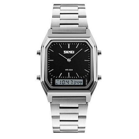 81c80a501b8 Relógio Masculino Skmei Anadigi 1220 PT - Shecom