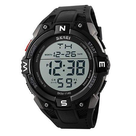 28a5880aa4a Relógio Masculino Skmei Digital 1140 Preto e Prata - Shecom
