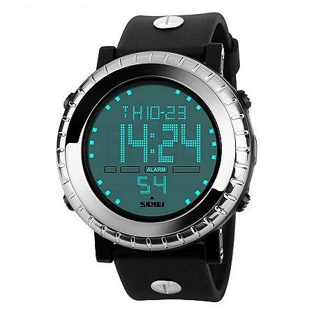 bc82f187e5b Relógio Masculino Skmei Digital 1172 - Preto Prata - Shecom