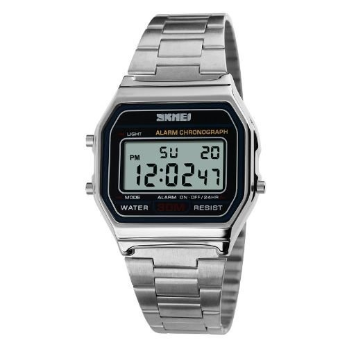 122138b1ebc Relógio Masculino Skmei Digital 1123 Prata