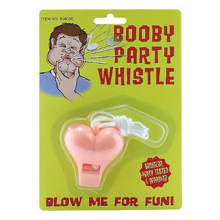 Apito em Formato de Seio Booby Party Whistle - EVA021