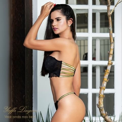 Conjunto Yaffa Tomara que Caia Cor Preto com Dourado - Y7040