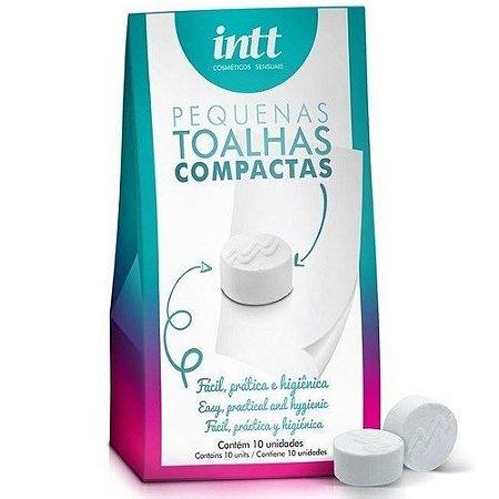 INTT Pequenas Toalhas compactas e desidratadas para higienização com 10 unidades - KIT06