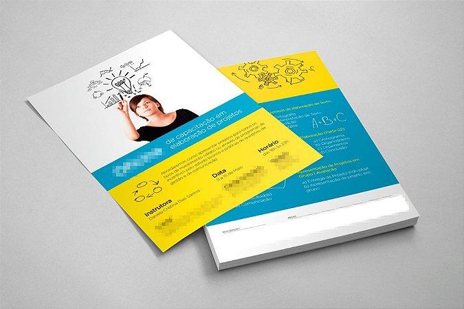 Folhetos 20x14cm - Couchê 90g - Colorido Frente e Verso