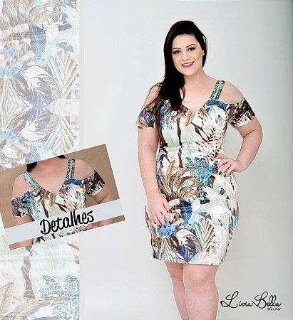 """vestido ombro vazado e bordado no decote . Coleção """"LUST"""" Primavera verão 2018."""