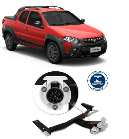 Engate de reboque rabicho Fiat  Pick up Strada 450Kg 2014/...