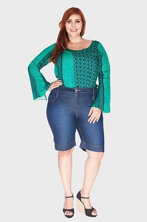 Bermuda Jeans Pespontos