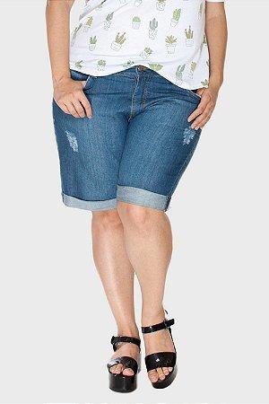 Bermuda Jeans Boyfriend Plus Size