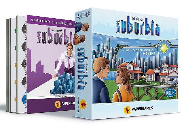 """Combo Suburbia + Suburbia Inc + Expansão """"Essen Spiel"""" Grátis"""