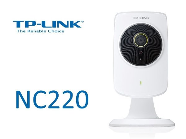 Camera de monitoramento de vídeo TP-Link NC220 Cloud Visão Noturna WiFi Repetidor 300Mbps