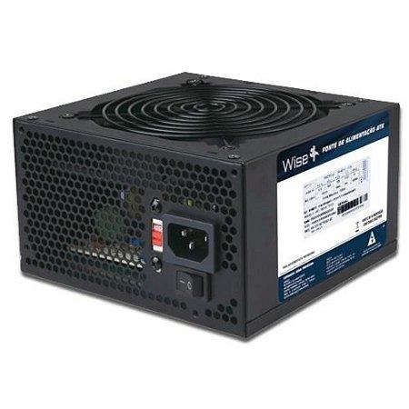Fonte de alimentação ATX 2.1 500W Reais Wisecase WS-500 1X12