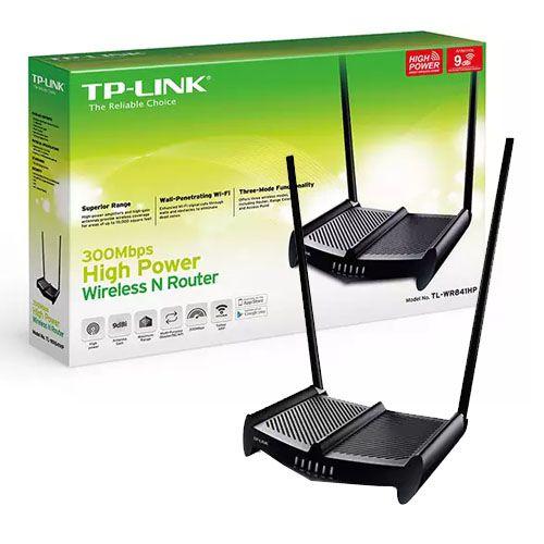 Roteador Wireless N 300Mbps de Alta Potência TP-Link TL-WR841HP v2 (HG) c/ antenas de alto ganho 8 dBi