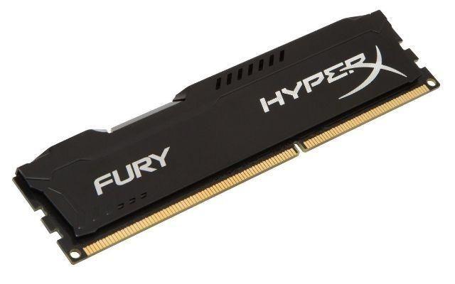 Memória RAM 8 Gb DDR3 1600 Mhz Kingston Hyper X Fury cor Preta HX316C10FB/8
