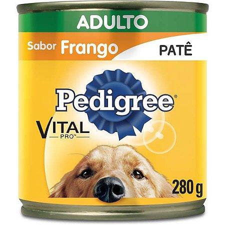 Ração Pedigree Lata Frango Patê Adulto 280Gr