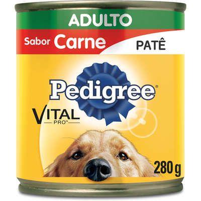 Ração Pedigree Lata Carne Patê Adulto 280G