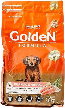 Ração para Cachorro Filhote Raças Pequenas Golden Fórmula Frango e Arroz 3 Kg