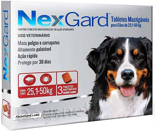 Nexgard GG Cães 25,1 a 50kg Antipulgas e Carrapatos Merial