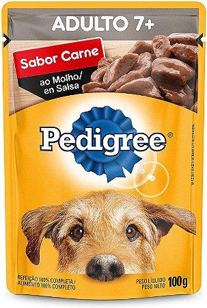 Ração Úmida Pedigree Sachê Carne ao Molho Cães Adultos Sênior 7+ Anos