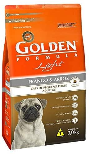 Ração para Cães Adultos Raças Pequenas Golden Fórmula Light Frango e Arroz 3Kg