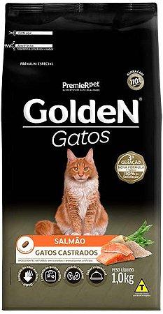 Ração Golden Gatos Castrados Salmão 1Kg