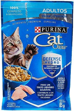 Cat Chow Sachê Adultos Peixe Ao Molho 85G