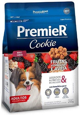 Petisco Premier Cookie Cães Adultos Pequenos Frutas Vermelhas e Aveia 250G