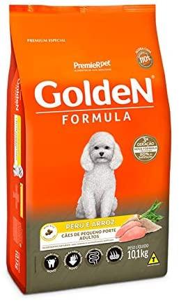 Ração Golden Fórmula Cães Adultos Raças Pequenas Peru e Arroz. 10.1 Kg