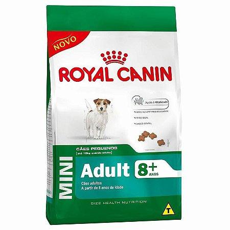 Ração Royal Canin Mini Adult 8+ (3kg e 7,5kg)