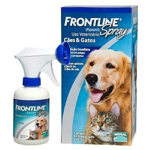 Antipulgas e Carrapatos Frontline Spray para Cães e Gatos - 100ml
