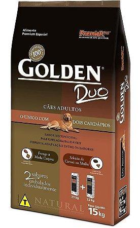 Ração Premier Golden Duo Frango a Moda Caipira & Seleção de Carnes ao Molho 3kg