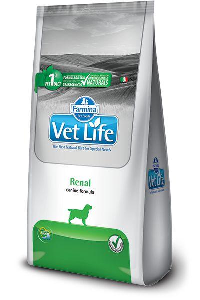 Ração Farmina Vet Life Natural Renal para Cães Adultos com Insuficiência Renal