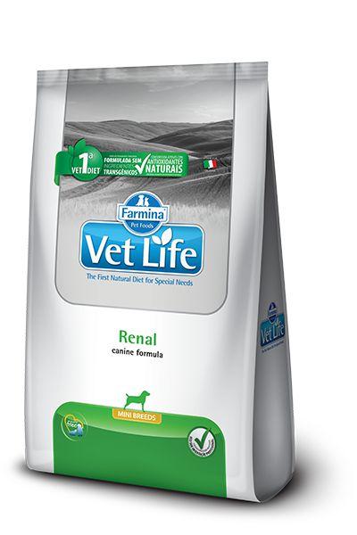 Ração Farmina Vet Life Natural Renal para Cães Mini