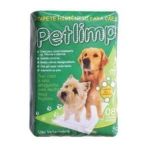 Tapete Higiênico para cães Petlimp (8un-62cm x 80cm ou 10un-55cm x 70un)