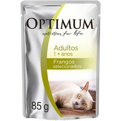 Alimento Úmido Optimum Gatos Adultos Frango