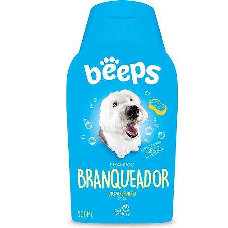 Shampoo Beeps Branqueador Cães e Gatos 500ml Pet Society