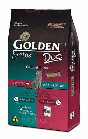 Ração Premier Golden Gatos Duo Cordeiro e Salmão 3kg