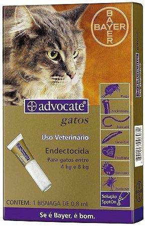Advocate Gatos 4 à 8 kg