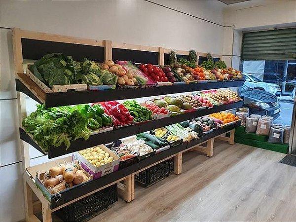 Estante para parede de hortifruti, mercadinho ou quintanda