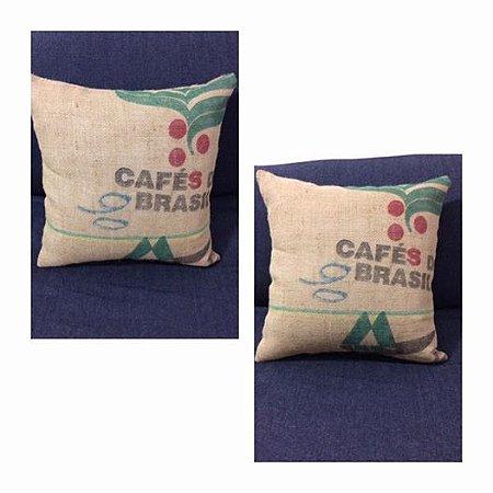 Almofadas 45x45 saca de café juta