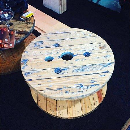 Carretel mesa de centro pic nic customização colorido 45x60 cm