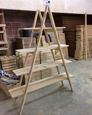 Estante escada de pallet 200x150 cm