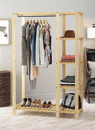 Estante armário guarda roupa arara com varão 100x200x50