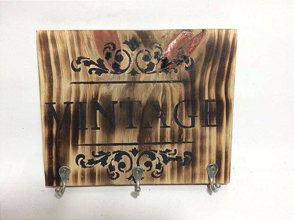 Porta chaves vintage para 3 chaves- somente venda
