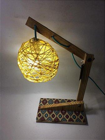 Luminária cachopa amarelo- somente venda